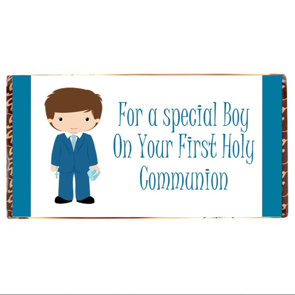 Communion Boy Chocolate Bar
