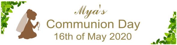 Communion Leaf Girl Banner