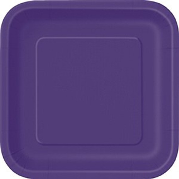 Deep Purple Square Plates