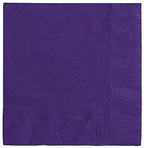 Deep Purple Paper Napkins