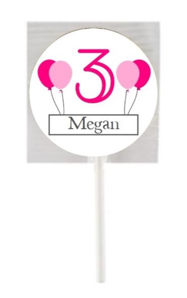15PK Girl Age Lollipops