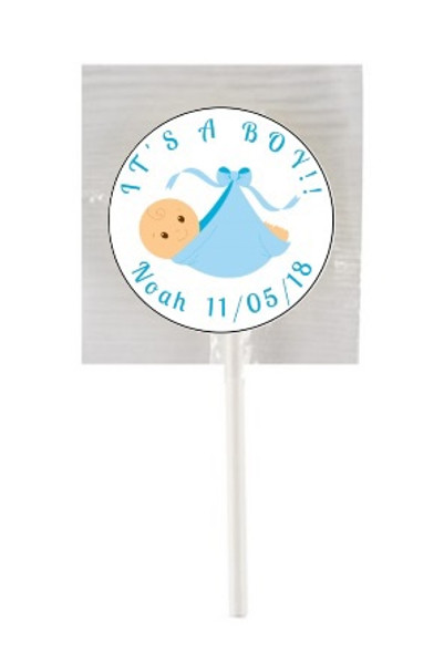 15PK It's a Boy Lollipops