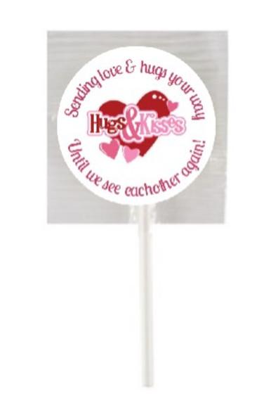 15Pk Hugs & Kisses Lollipops