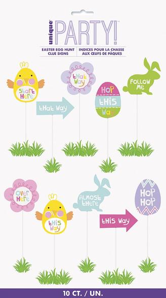 Easter Egg Hunt Clue Signs