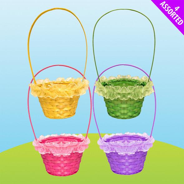 Easter Frill Wicker Basket