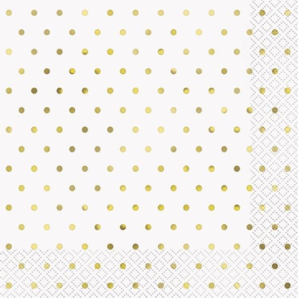 Elegant Gold Dots Napkins