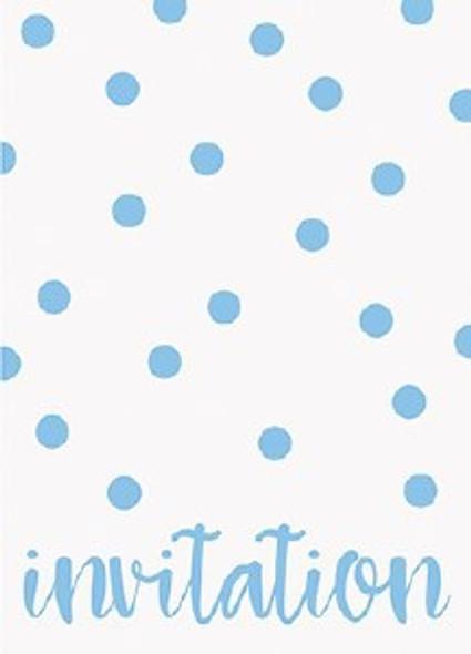Elegant Blue Dots Invitations