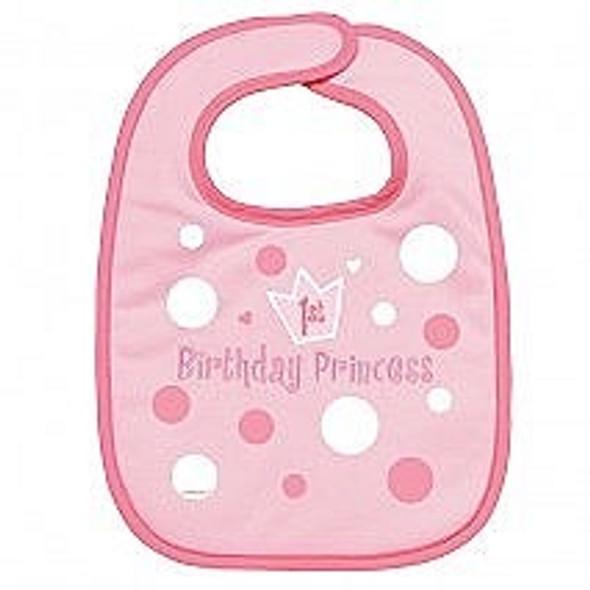 First Birthday Girl Bib