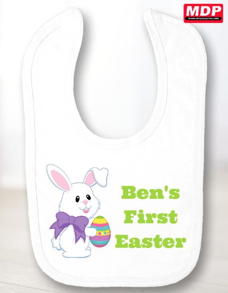 First Easter Baby Boy Bib