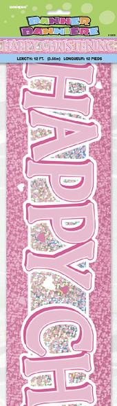 Girl Christening Banner