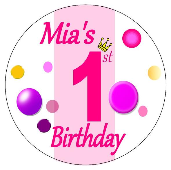 Girl 1st Birthday Pinata