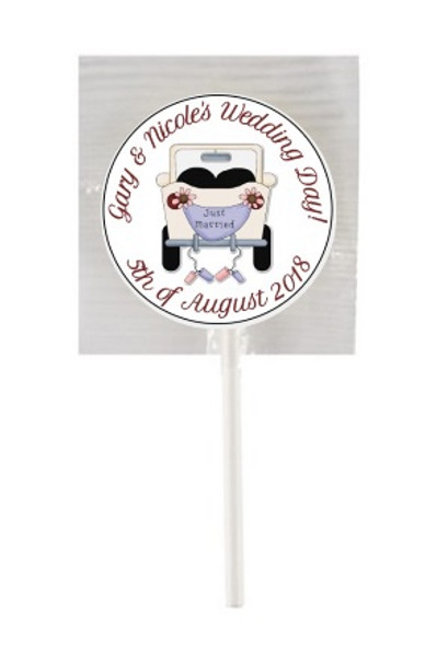 15PK Wedding Lollipops