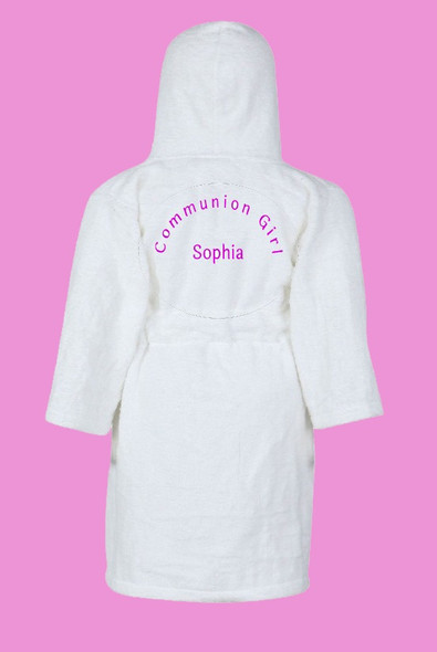 Girls Personalised Communion Dressing Gown