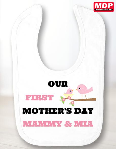 Girls First Mothers Day Bib
