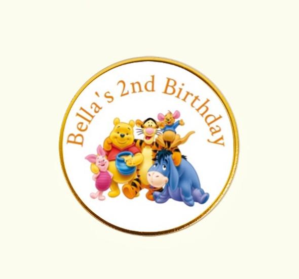 15Pk Winnie The Pooh Coins