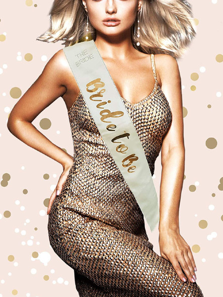 Gold Bride To Be Sash