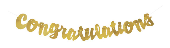 Gold Congrats Banner