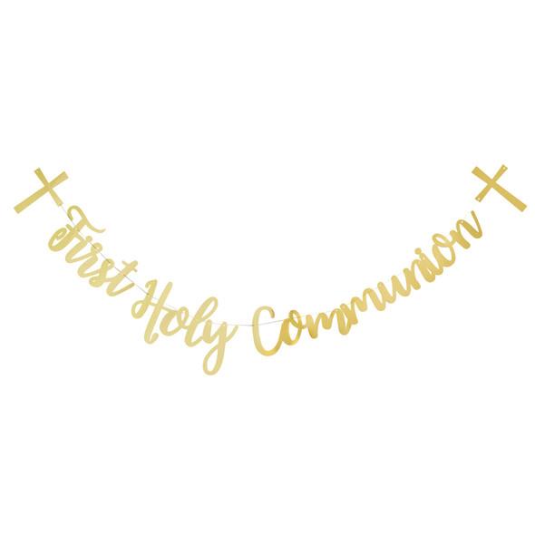Gold Communion Letter Banner