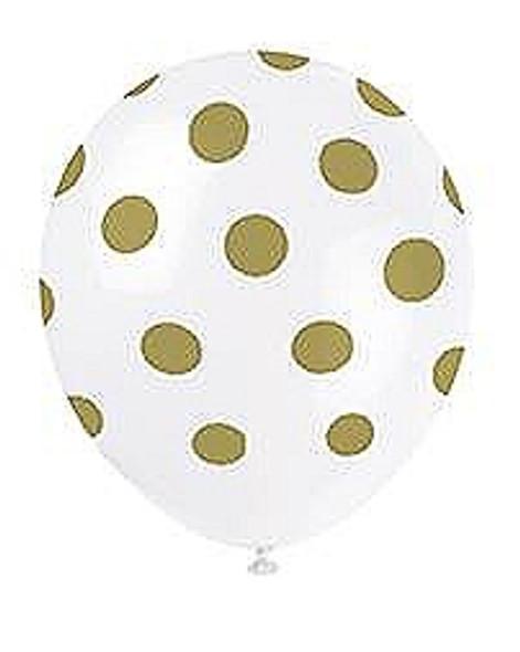 Gold Dots Balloons
