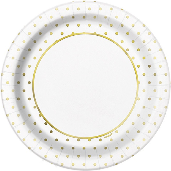 Gold Dots Elegant Plates