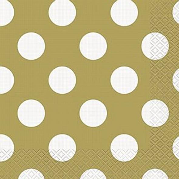 Gold Dots Napkins