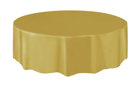 Gold Round Tablecover