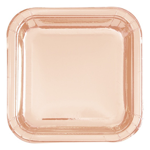 17cm Rose Gold Square Plate