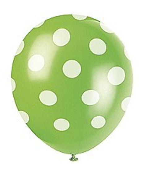 Green Dots Helium Balloons
