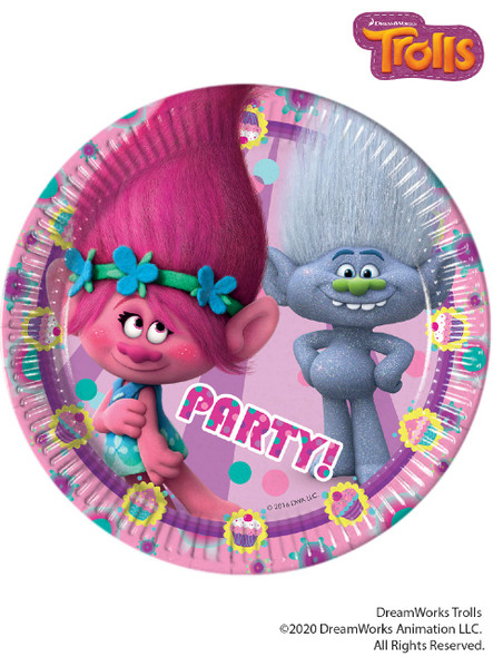 19cm Trolls Party Plate