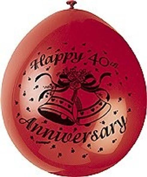 Happy 40th Anniversary Balloon