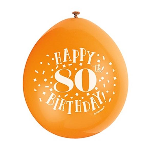 Happy 80th Birthday Balloons