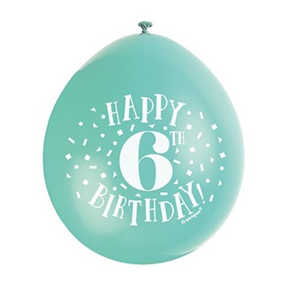 Happy 6th Birthday Balloons