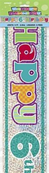 Happy 6th Birthday Banner