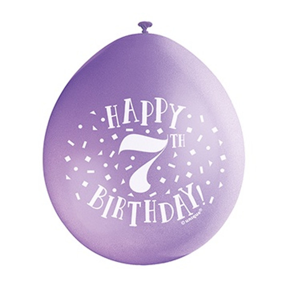 Happy 7th Birthday Balloons
