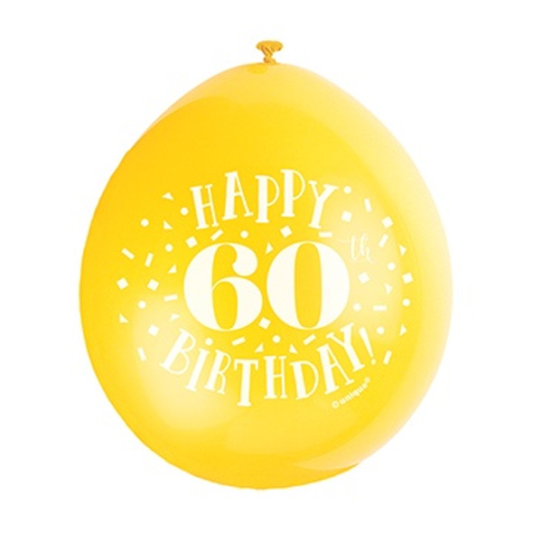 Happy 60th Birthday Balloons