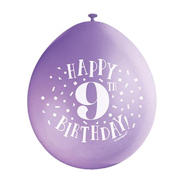 Happy 9th Birthday Balloons
