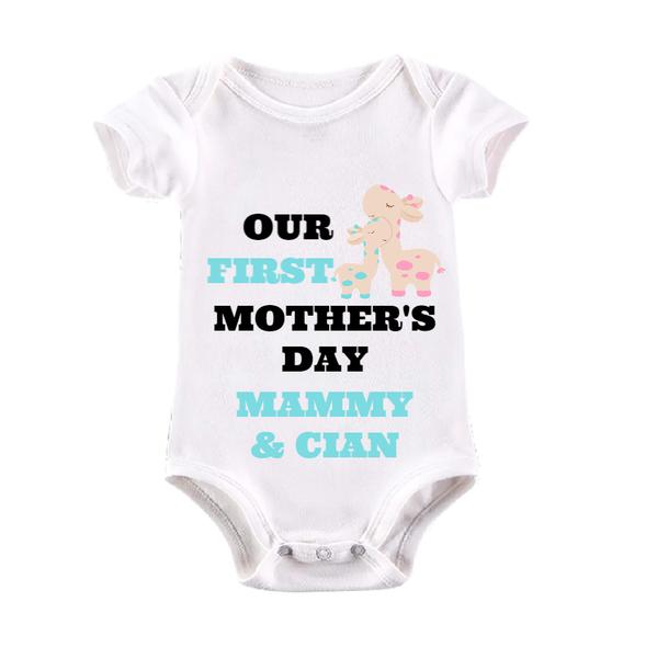 1st Mothers Day Boy Baby Vest