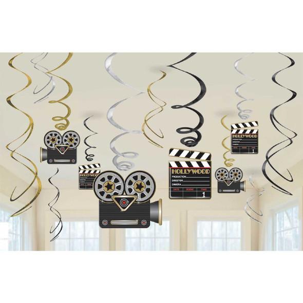 Hollywood Swirl Decorations