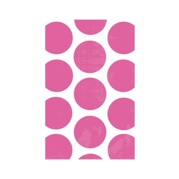 Hot Pink Dots Paper Bags