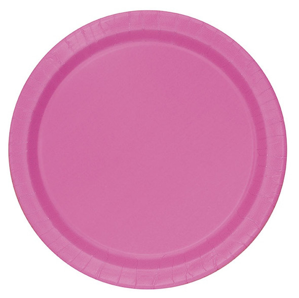 Hot Pink Paper Plates