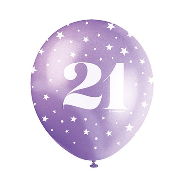 21st Birthday Helium Balloons