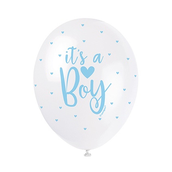 Its A Boy Pearlised Balloons