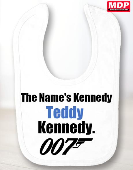 James Bond Baby Bib