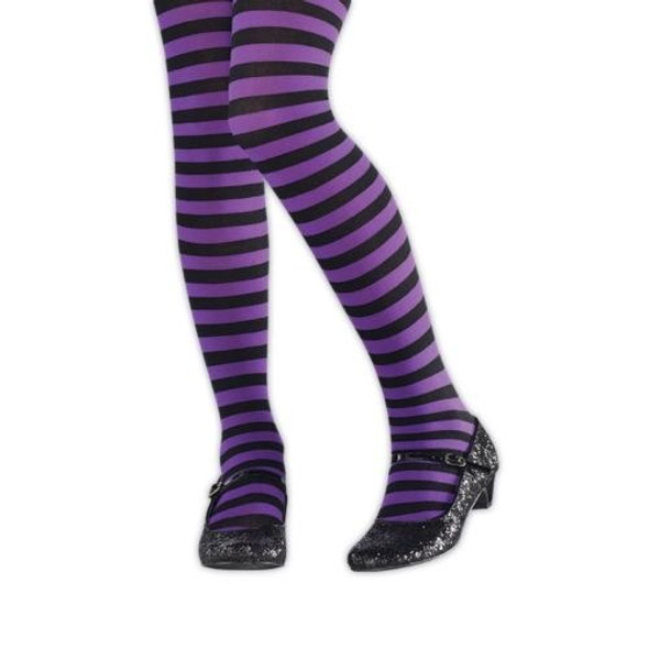Kids Purple and Black Tights