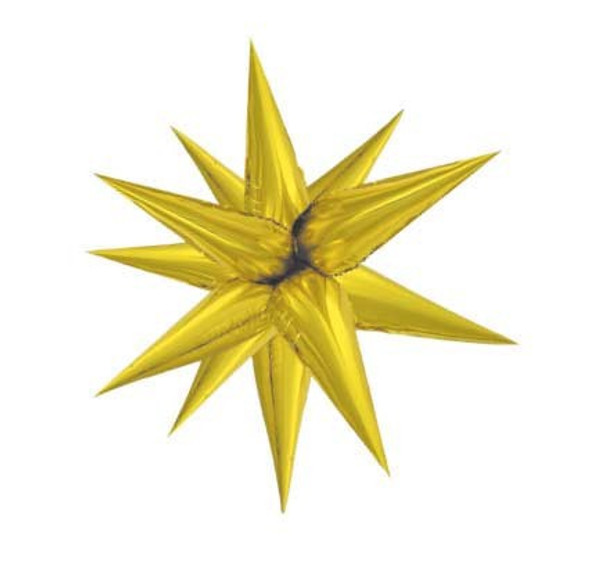 Large Gold Starburst Balloon