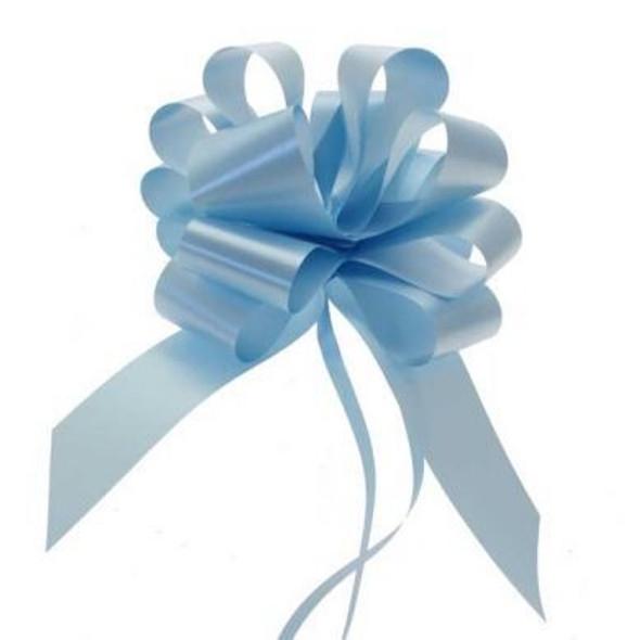 Light Blue Pull Bow Ribbon
