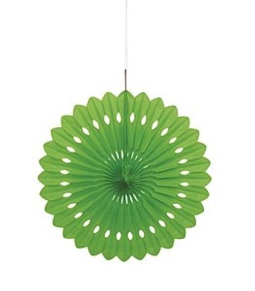 Lime Green Paper Fan