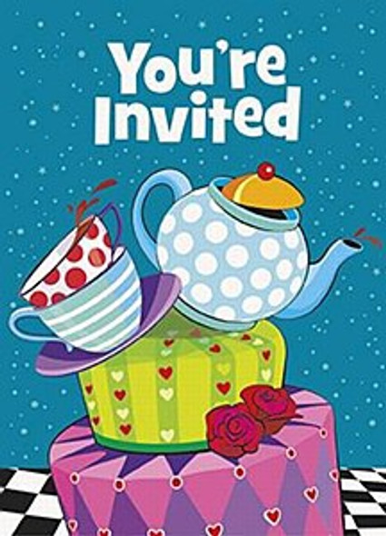 Mad Hatter Tea Party Invites