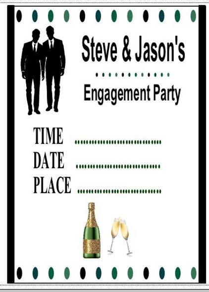 Male Engagement Invitations