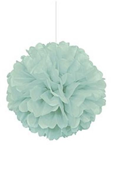 Mint Puff Ball Decoration
